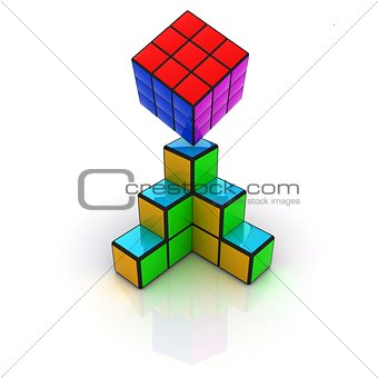 Abstract colorfull geometric background