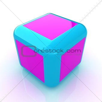 Abstract colorfull block 3d