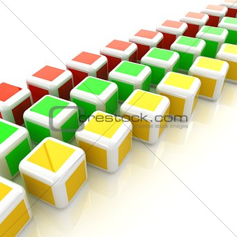 Abstract colorfull blocks 3d