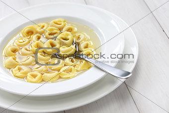 tortellini in brodo, italian cuisine