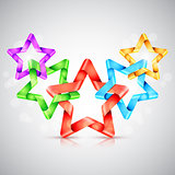Folded Color Paper Stars