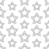 Folded Stars Seamless Pattern