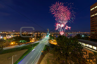 4th of July Fireworks Portland Oregon
