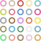 Colorful round labels