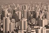 Top view city