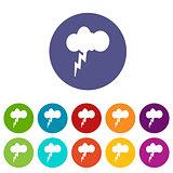 Storm flat icon