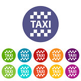 Taxi flat icon