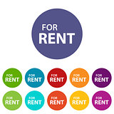 For rent flat icon