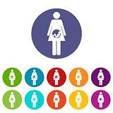 Pregnancy flat icon