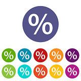 Percent flat icon