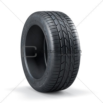 Single new unused car tire