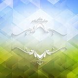 Decorative geometric background