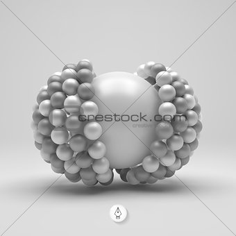 3d vector illustration. Concept for science and technology.