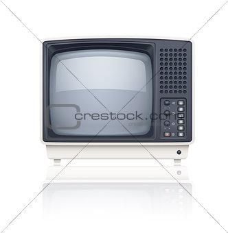 Old style retro tv set icon