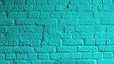 Turquoise Brick Background