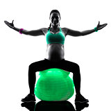 pregnant woman fitness exercises silhouette