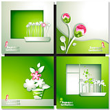 Green summer invitation card