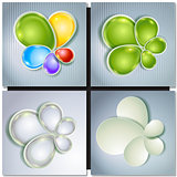 Abstract concept vector multicolored background set.