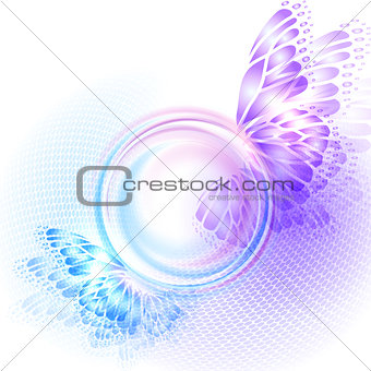 Background with soft transparent circle
