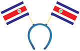 Witty headdress flags Costa Rica