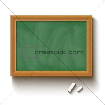 chalkboard and chalks