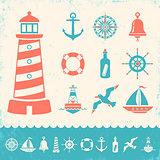 vintage marine icons