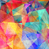 colorful background with polygons