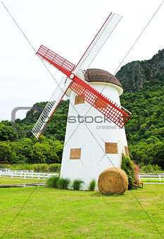 Beautiful windmill landscape in Thailand