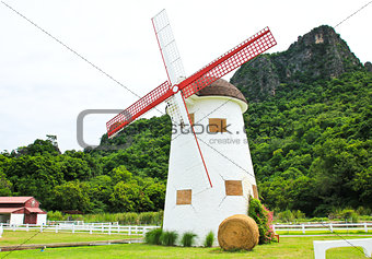 Beautiful windmill landscape in Thailand