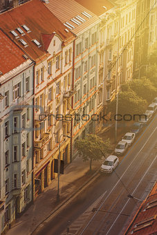 Prague, Aerial View of Vysehrad Buildings