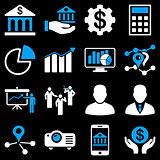 Banking business and presentation symbols.