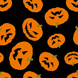 Halloween background with pumpkins
