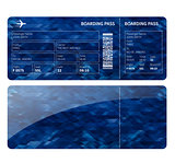 Blue boarding card