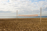 Volleyball net in the beach