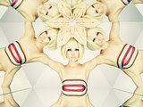 Bright blonde in kaleidoscope