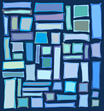 liquid rectangle and square shapes in blue purple