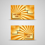 Gift card with orange striped background