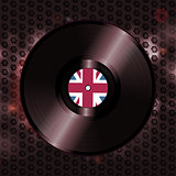 British vinyl record on metallic honeycomb background