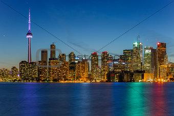 Toronto city at night