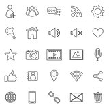 Chat line icons on white background