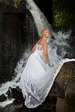 Young Bride On A River