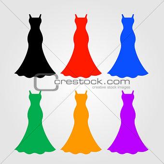 A set of logos for apparel business