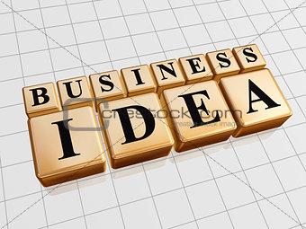 business idea in golden cubes