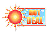 hot deal in label with sun