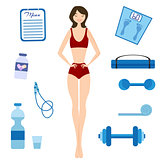 Slimming girl and Healthy lifestyle