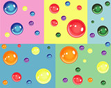 Colorful bubbles for birthday and fun.