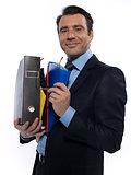 Man Portrait holding files