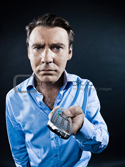 Man Portrait Remote Control Fail