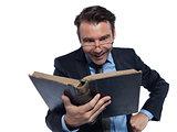 man professsor teacher teaching reading ancient book