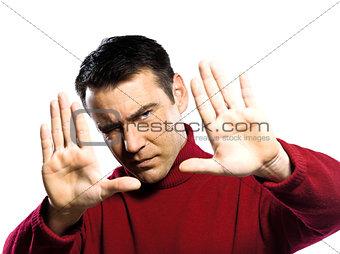 caucasian man gesture Finger Frame